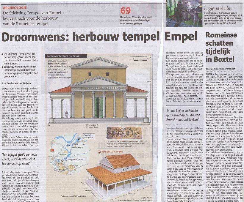 Droomwens: Herbouwen Tempel Empel